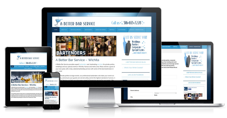 A Better Bar Service Website - Wichita Web Design