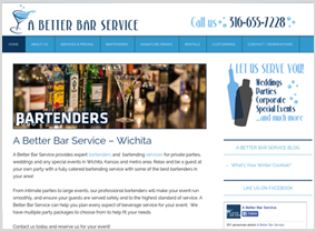 A Better Bar Service - Wichita Web Design