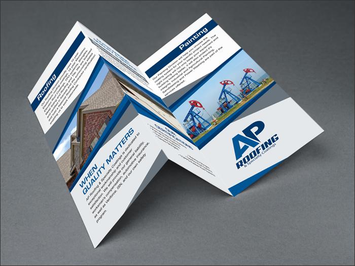 AP Roofing Tri-Fold - Wichita Graphic Design