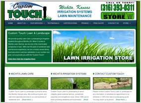 Custom Touch Lawn & Landscape Website